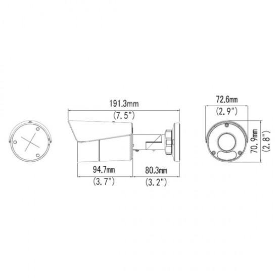 IPW-2124LSA-40F 4.0MP IP Bullet kamera (4 mm)