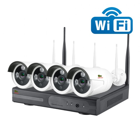 2.0MP zunanji Wi-Fi set IP-32 4xCAM + 1xNVR (v. 1.0)